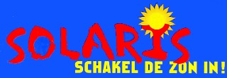 Logo of (Dutch) Solaris project by Greenpeace and several (energy) companies to make photovoltaic solar energy available to the public. Goal at that time: ƒ 1.000,-- or EURO 453,78 for a solar panel of 1 m2. © Greenpeace 1998.